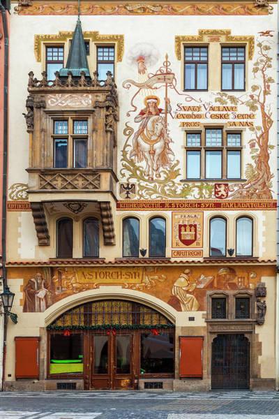 Wall Art - Photograph - Decorated Prague Facade by Andrew Soundarajan
