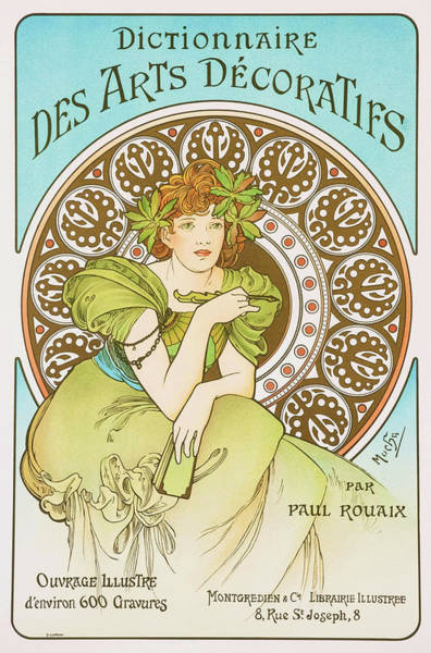 Wall Art - Painting - Decorative Art Dictionary - Digital Remastered Edition by Alfons Maria Mucha