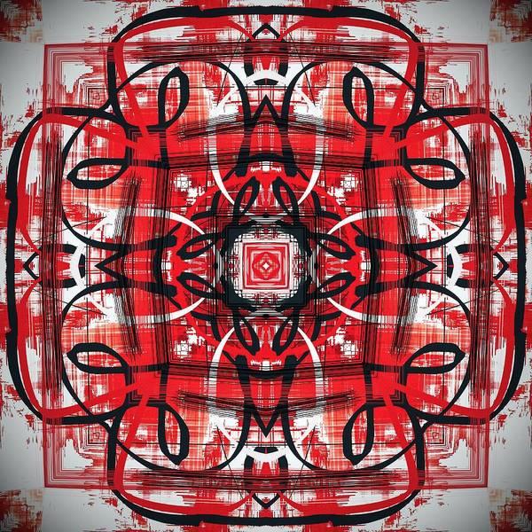 Digital Art - Decorative Red Pattern Design by Sheila Wenzel