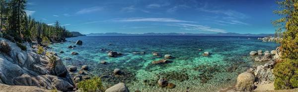 Photograph - Deep Blue And Turquoise Water At Lake Tahoe Panorama by Andy Konieczny