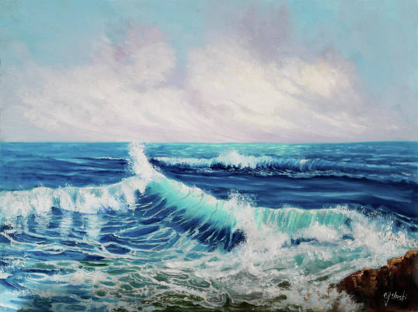 Wall Art - Painting - Deep Blue Sea by Carole Sluski