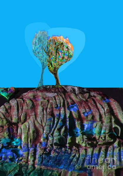 Organic Abstraction Mixed Media - Deep Earth No. 4 Heart Of The Matter  by Zsanan Studio