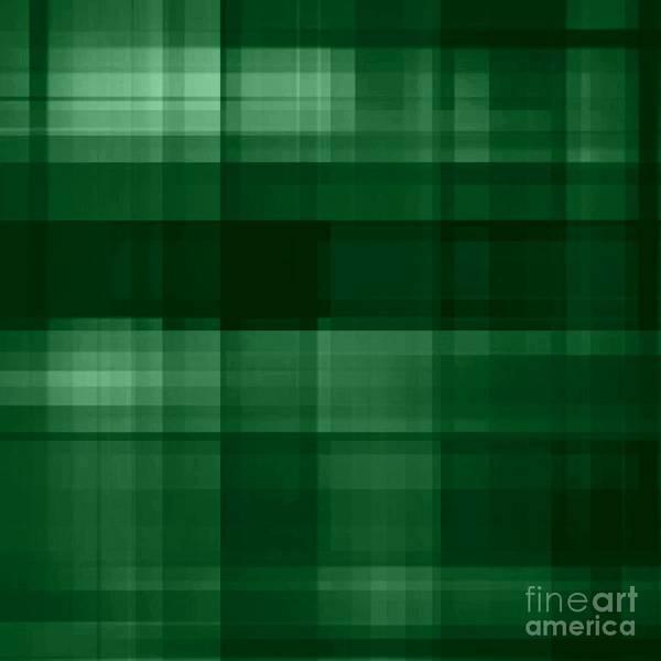 Digital Art - Deep Green Plaid by Rachel Hannah