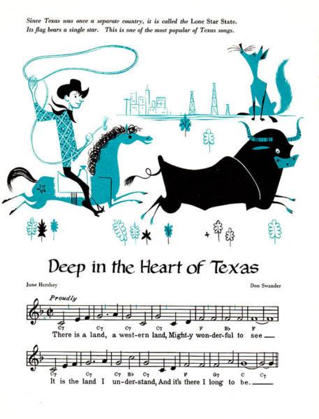 Fox Mixed Media - Deep In The Heart Of Texas by Zal Latzkovich