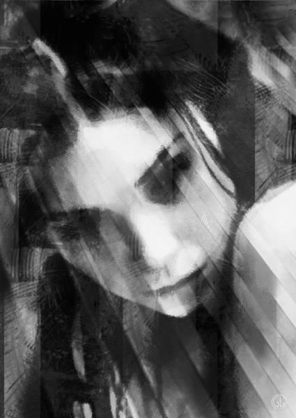 Grayscale Digital Art - Deep In Thoughts by Gun Legler