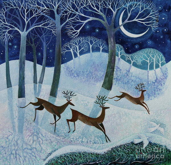 Christmas Time Wall Art - Painting - Deep Mid Winter by Lisa Graa Jensen