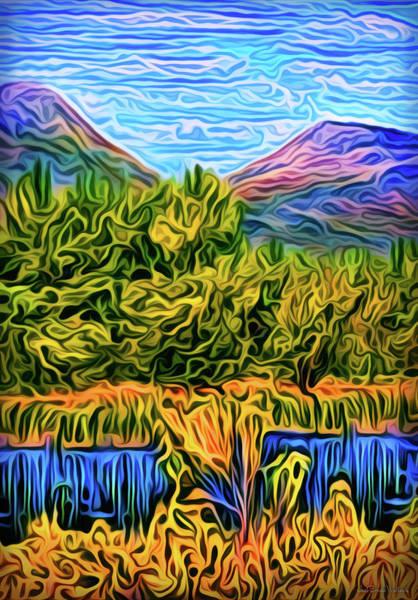 Digital Art - Deep Mountain Waters by Joel Bruce Wallach