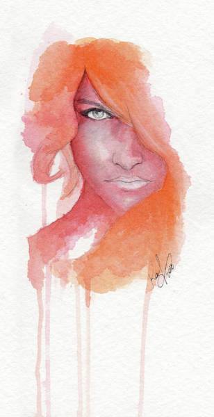 Guache Painting - Deep Orange by Raffaello Saverio Padelletti