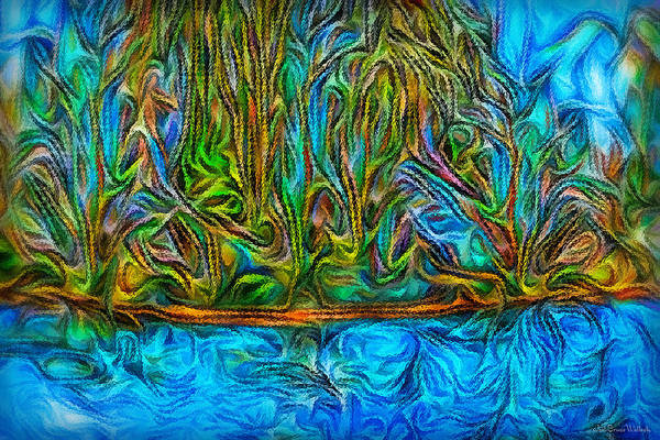 Digital Art - Deep Pond Illumination by Joel Bruce Wallach