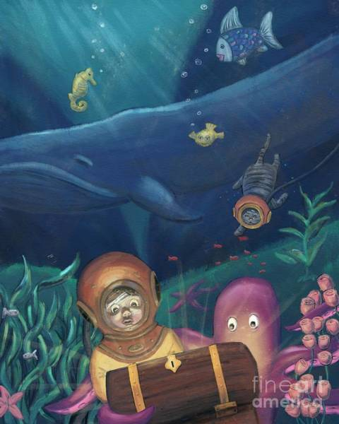 Digital Art - Deep Sea Diving With Friends by Athena Lutton