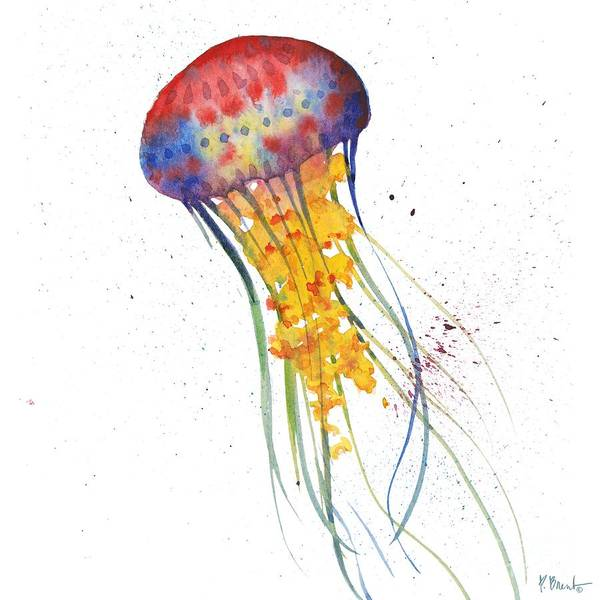 Jellyfish Painting - Deep Sea Jellies I by Paul Brent