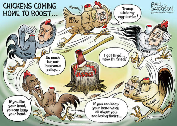 Drawing - Deep State Chickens by GrrrGraphics ART