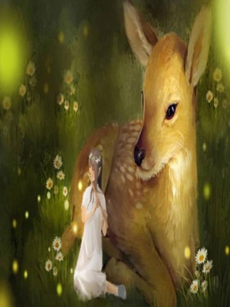 Bambi Mixed Media - Deer by Elaine Harrald