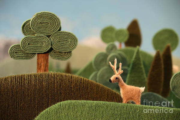 Puppet Wall Art - Photograph - Deer In The Forest Also Available As by Kreus