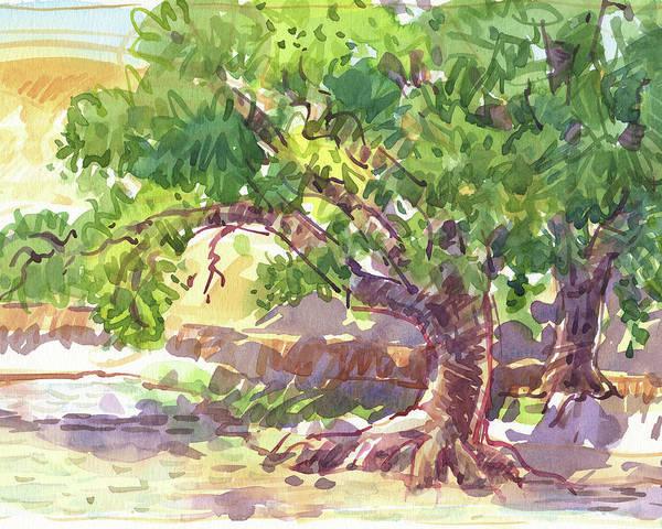 Painting - Deer Lake Oaks by Judith Kunzle