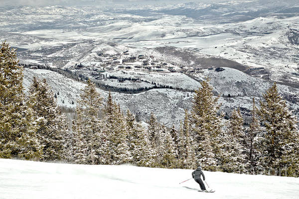 Photograph - Deer Valley Alpine Skier by Adam Jewell