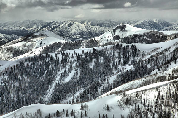 Photograph - Deer Valley Bald Mountain Snowy Views by Adam Jewell