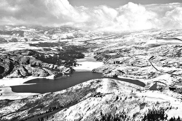 Photograph - Deer Valley Bald Mountain Views Black And White by Adam Jewell