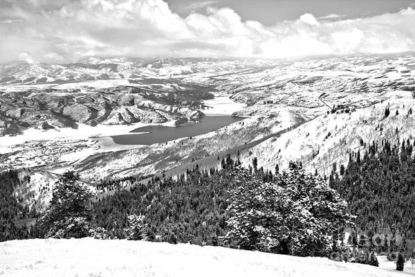 Photograph - Deer Valley Mountain Views Black And White by Adam Jewell