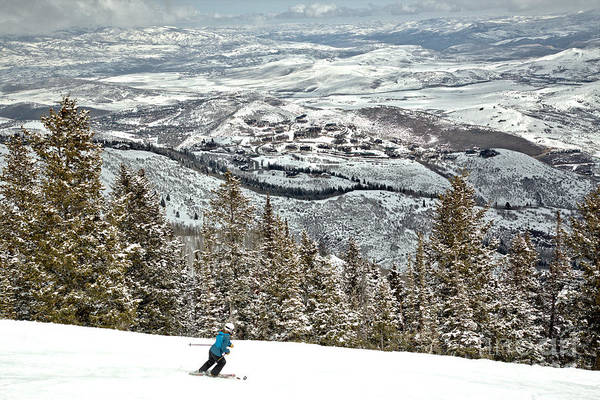 Photograph - Deer Valley Skier by Adam Jewell