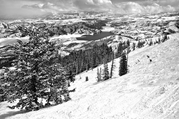 Photograph - Deer Valley Views From The Bumps Black And White by Adam Jewell