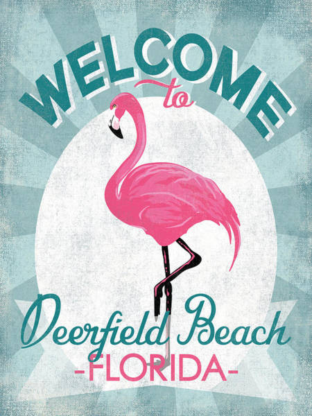 Wall Art - Digital Art - Deerfield Beach Florida Pink Flamingo by Flo Karp