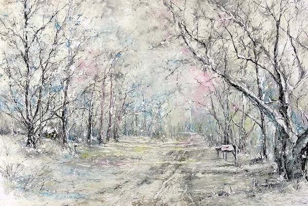 Painting - Dees Street Series 7   Winters Serendipity by Robin Miller-Bookhout