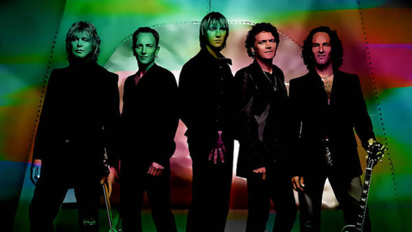Wall Art - Mixed Media - Def Leppard by Marvin Blaine
