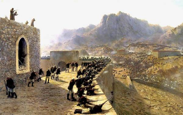 Wall Art - Painting - Defence Of Bayazet by Lev Lagorio