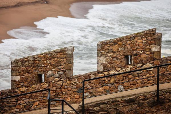 Wall Art - Photograph - Defensive Stone Wall Battlement By The Sea by Artur Bogacki