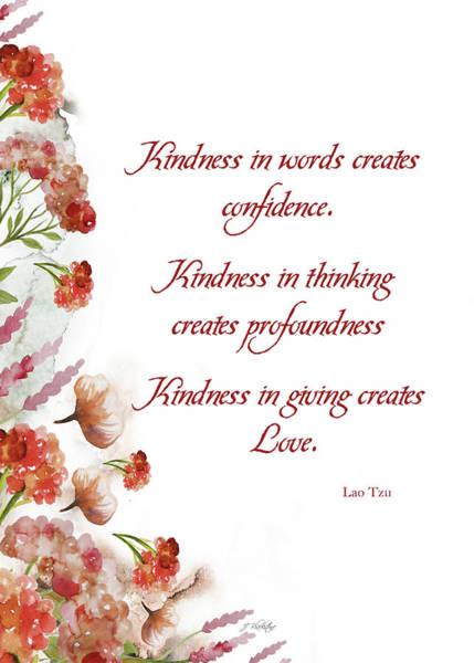 Photograph - Definition Of Kindness - Kindness by Jordan Blackstone