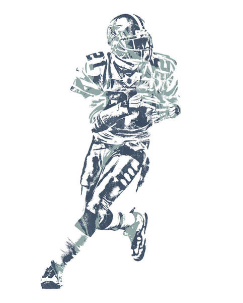 Wall Art - Mixed Media - Deion Sanders Dallas Cowboys  Pixel Art 2 by Joe Hamilton