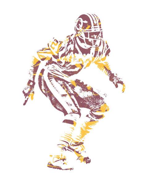 Wall Art - Mixed Media - Deion Sanders Washington Redskins Pixel Art 1 by Joe Hamilton