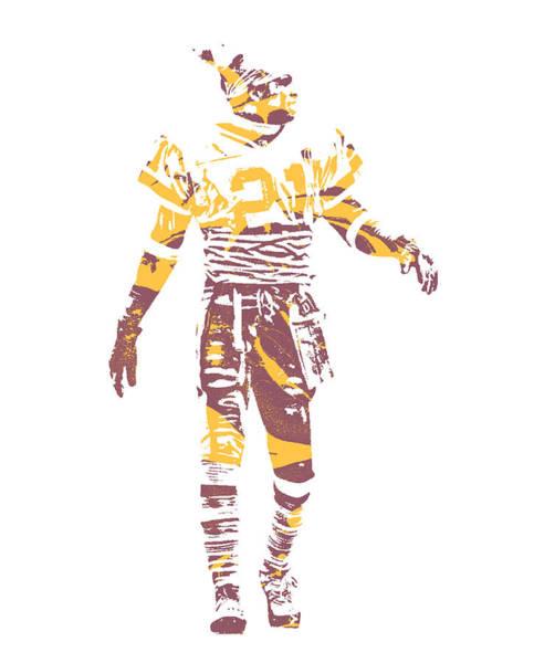 Wall Art - Mixed Media - Deion Sanders Washington Redskins Pixel Art 2 by Joe Hamilton