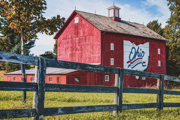 Photograph - Delaware County Bicentennial Barn - Ohio  by Gregory Ballos