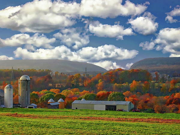 Photograph - Delaware Farm Country by Anthony Dezenzio