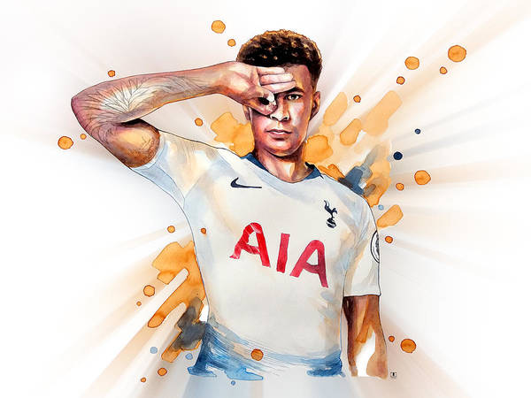 Premier League Wall Art - Painting - Dele Alli, Tottenham Hotspur by Wachira Kacharat