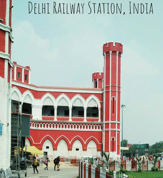 Wall Art - Photograph - Delhi Railway Station by Ekbal Kumar