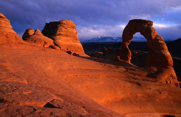 Natural Arch Photograph - Delicate Arch, Arches National Park by Christer Fredriksson