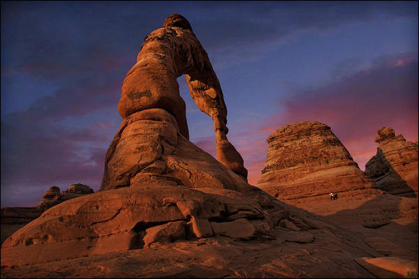 Usa Map Photograph - Delicate Arch - Arches National Park by Dan Anderson