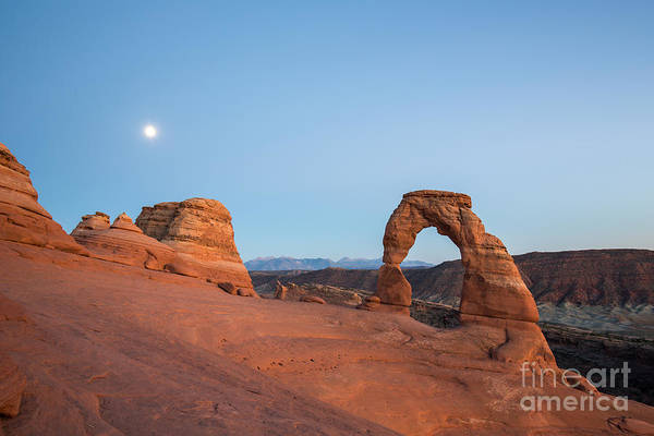 Wall Art - Photograph - Delicate Arch During Sunset In Utah by Victor Maschek