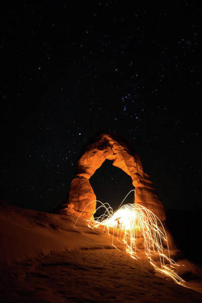 Photograph - Delicate Arch Steel Wool by Nathan Bush