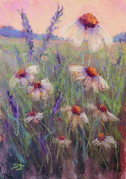 Painting - Delicate Daisies by Susan Jenkins
