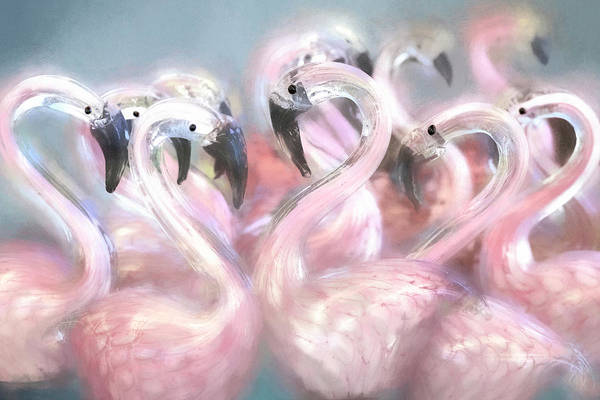 Wall Art - Photograph - Delicate Flamingos by Donna Kennedy