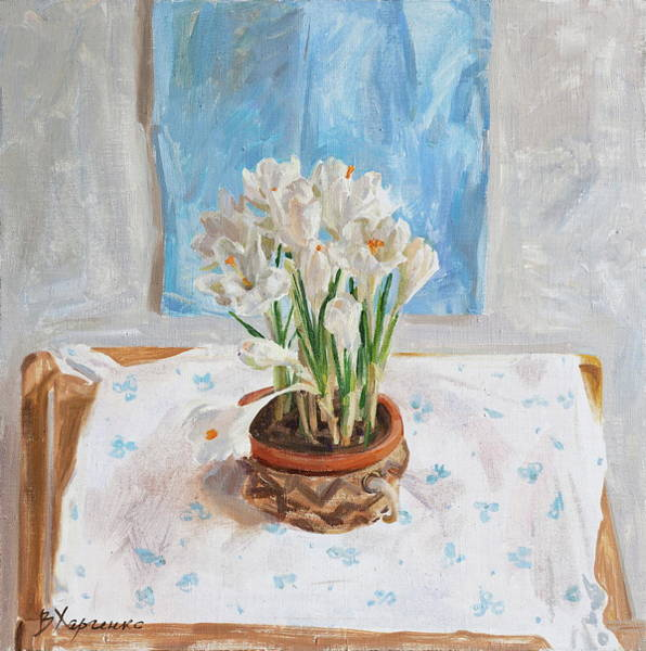 Wall Art - Painting - Delicate Spring by Victoria Kharchenko