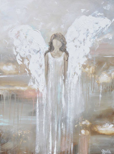 Wall Art - Painting - Delicate Strength - Angel Painting by Christine Bell