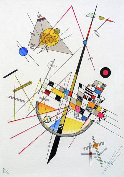Wall Art - Painting - Delicate Tension - Digital Remastered Edition by Wassily Kandinsky