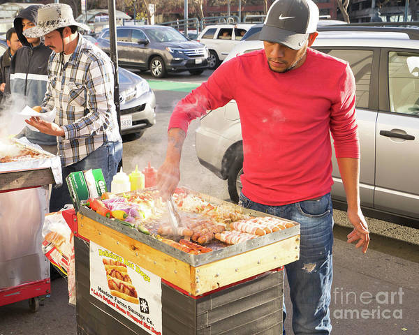 Photograph - Delicious All Meat Hot Dog Street Food Vendor Dsc6889 by Wingsdomain Art and Photography