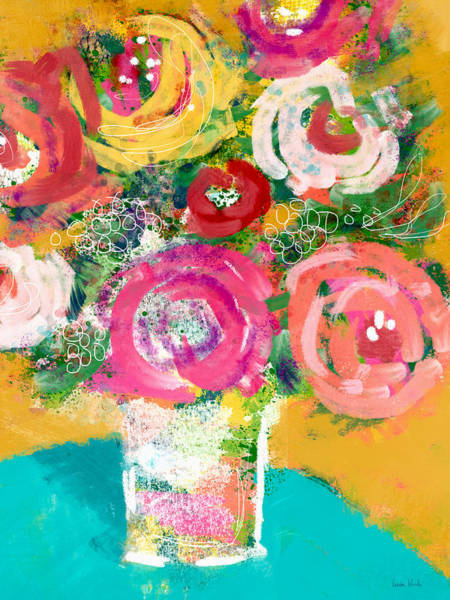 Fresh Mixed Media - Delightful Bouquet 4- Art By Linda Woods by Linda Woods
