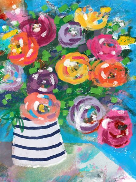 Wall Art - Mixed Media - Delightful Bouquet 6- Art By Linda Woods by Linda Woods